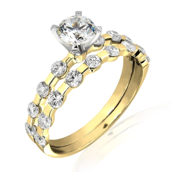 18K Gold and 0.70 Carat F Color VS2 Clarity GIA Certified Diamond Ring