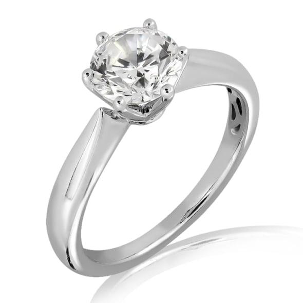 แหวนทอง 18K ประดับเพชร น้ำหนักรวม 0.30-1.00 กะรัต ค่าสี D-H ค่าความสะอาด VVS1 EX/EX/EX เพชรมาพร้อมใบรับรองจากสถาบัน GIA