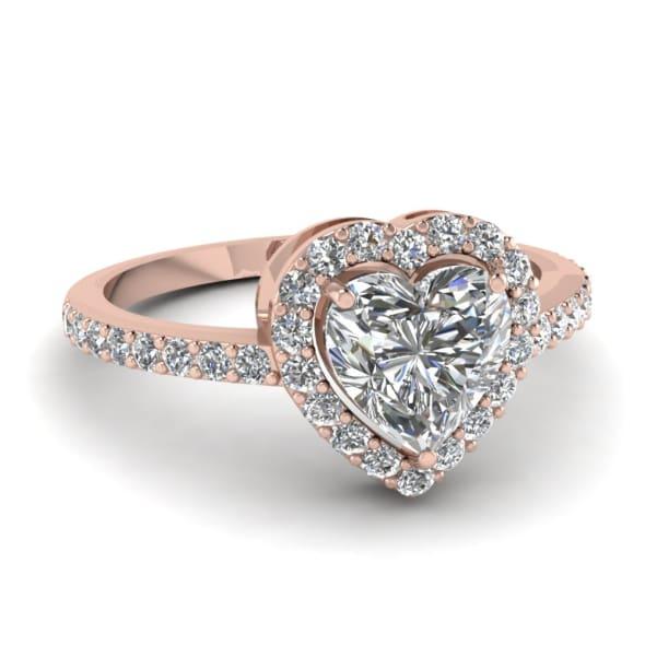 แหวนทอง Rose Gold 18K ประดับเพชร น้ำหนักรวม 1.00 กะรัต ค่าสี G ค่าความสะอาด VVS1 EX/VG เพชรมาพร้อมใบรับรองจากสถาบัน GIA