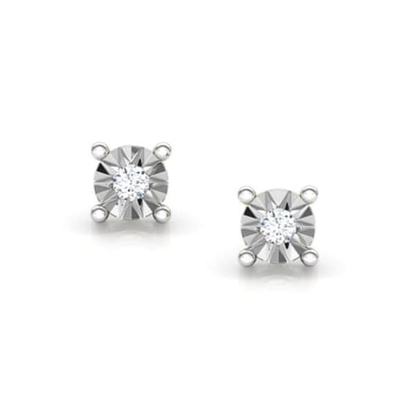 18K Gold and 0.03 carat Diamond Earrings