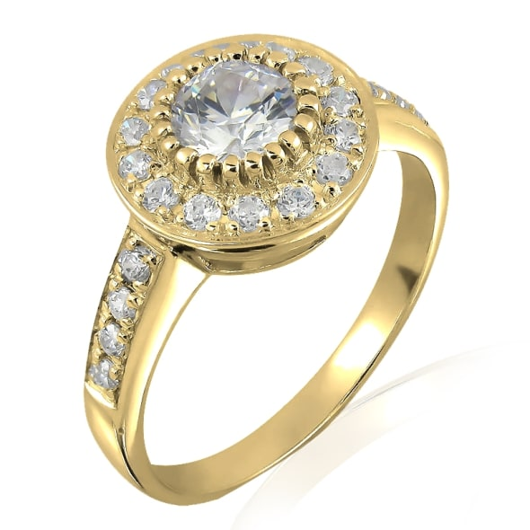 18K Gold and 0.85 Carat F Color VS2 Clarity GIA Certified Diamond Ring