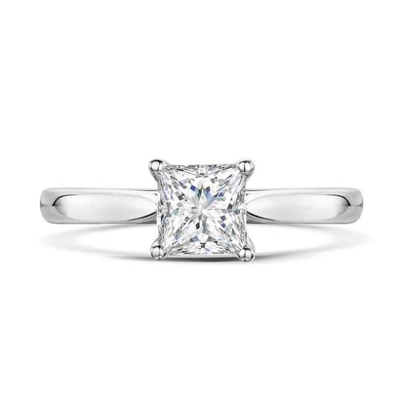 แหวนทอง 18K ประดับเพชร น้ำหนักรวม 1.03 กะรัต ค่าสี G ค่าความสะอาด VS