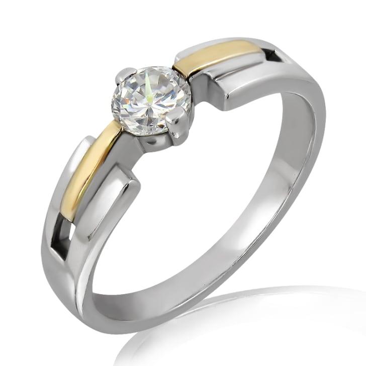 แหวนทอง 18K ประดับเพชร น้ำหนักรวม 0.40 กะรัต ค่าสี D ค่าความสะอาด VS1 EX/EX/EX เพชรมาพร้อมใบรับรองจากสถาบัน GIA