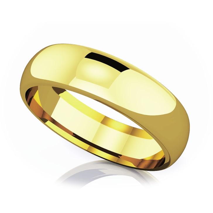 แหวนทอง - 18K 6 mm Comfort fit classic
