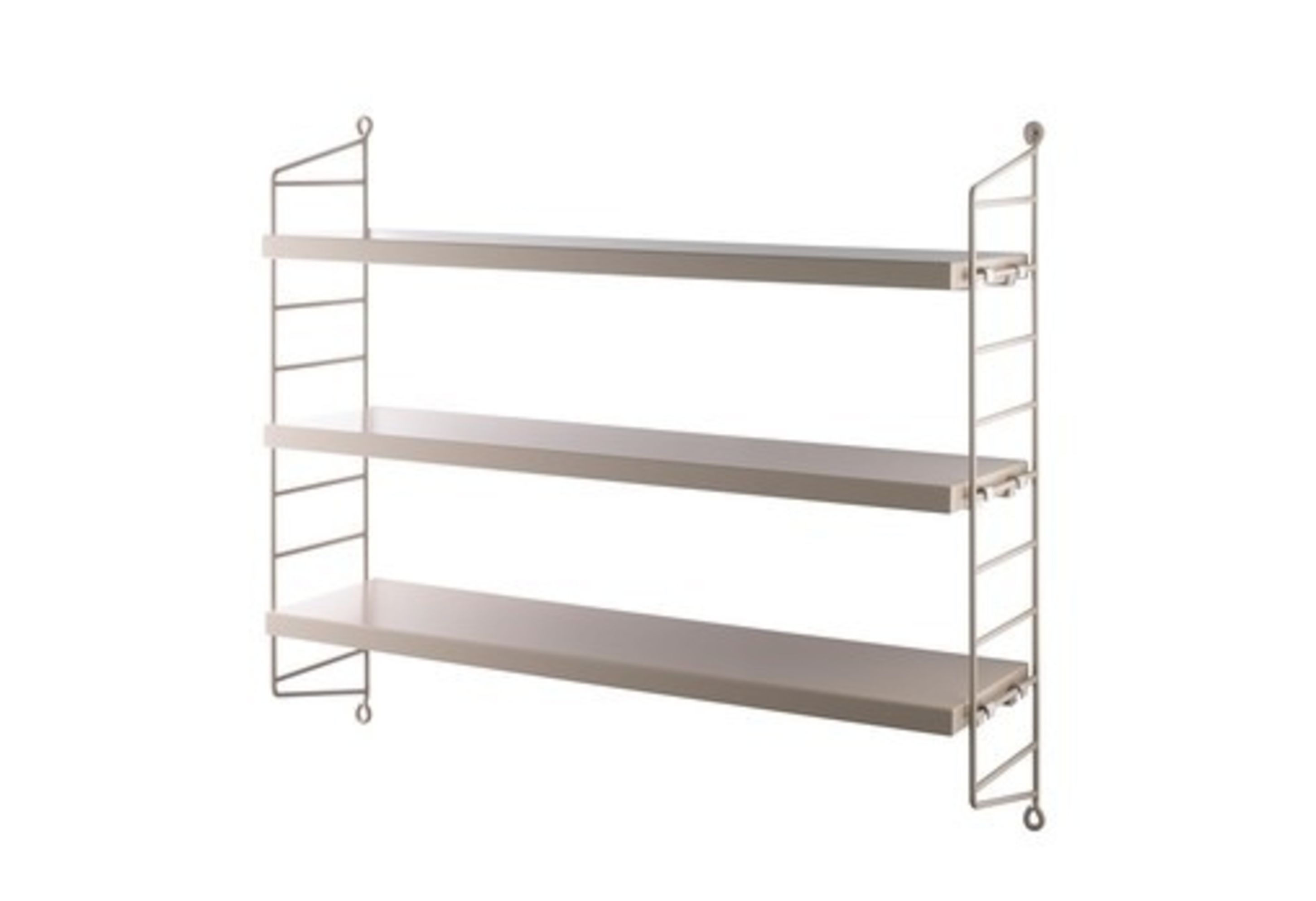 Wall To Wall Shelves string pocket wall shelf - sand