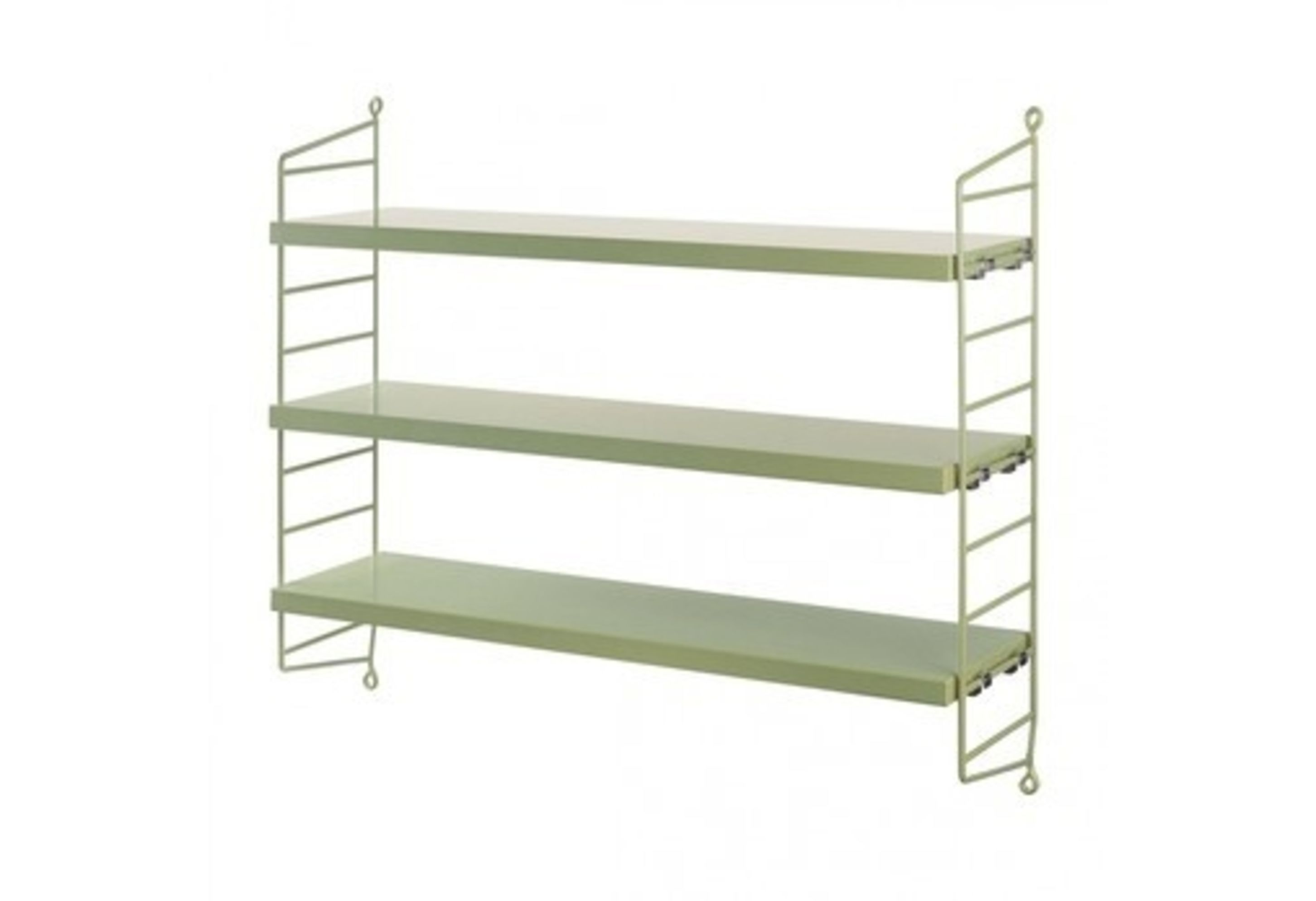 Wall To Wall Shelves string pocket wall shelf - green