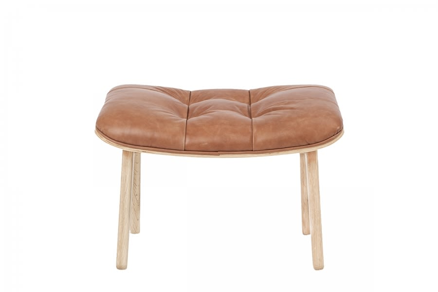 Mammoth Ottoman-Leather-Camel Brown