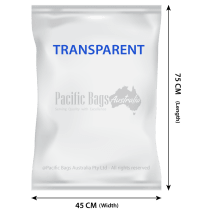 Woven Polypropylene - Transparent Bags - 45 CM x 75 CM