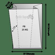 Woven Polypropylene - Feed Bag - (37 CM +10 CM) x 80 CM