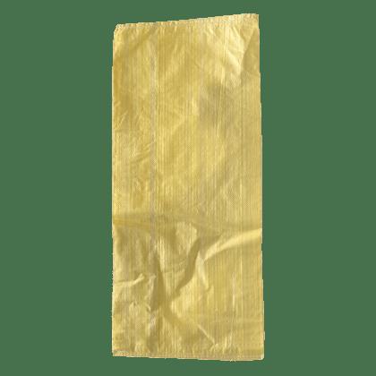 Woven Polypropylene - Beige Feed Bag - (38 CM +12 CM) x 86 CM