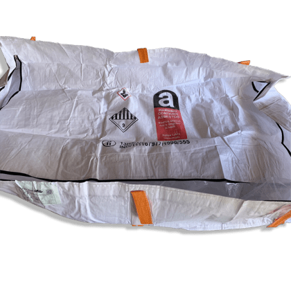 Woven Polypropylene - 550 KG Asbestos Bag - 250x150x40 CM