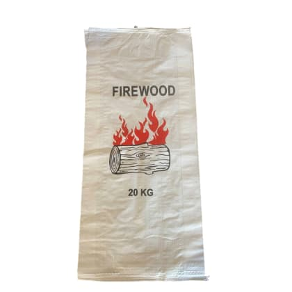Woven Polypropylene - Printed Firewood Bag (43 CM + 13 CM) x 96 CM