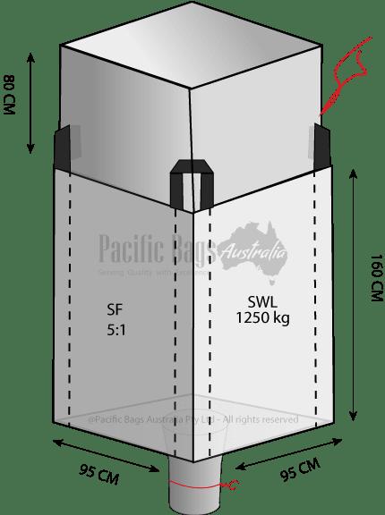 1.25 Tonne - Duffle Top Spout Bottom Bulk Bag