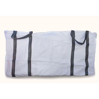 3 Cubic 1500 kg - White Woven Polypropylene Skip Bag - 1.5 (W) x 2.0(L) x 1(H) M