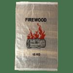 Woven Polypropylene - Printed Transparent Firewood Bag 50 x 80 CM