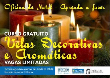 Casa da Cultura Rogério Sganzerla está com inscrições abertas para curso de velas decorativas e aromáticas