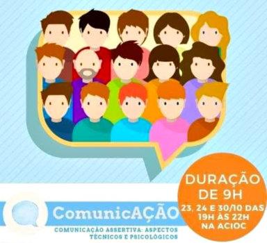 Workshop sobre comunicação vai trabalhar os aspectos técnicos e psicológicos da comunicação assertiva