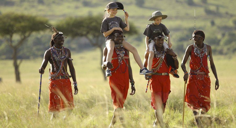 Children on an African safari.