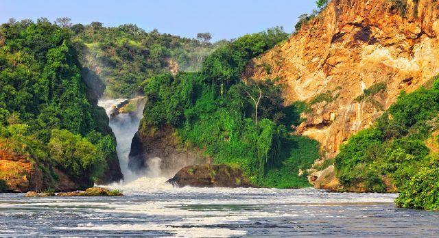The Murchinson falls that lead to the Nile