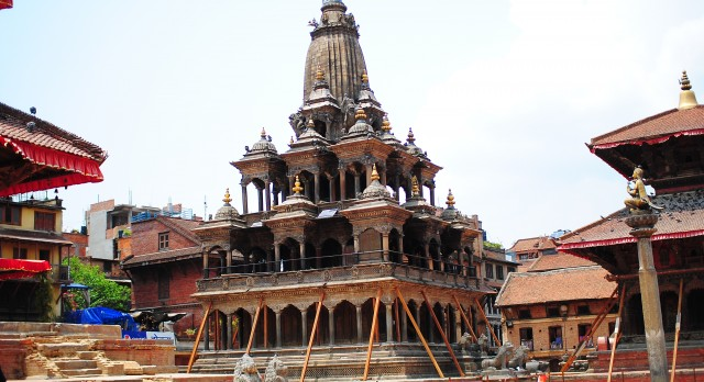 The Patan Durbar Square in Nepal, Asia
