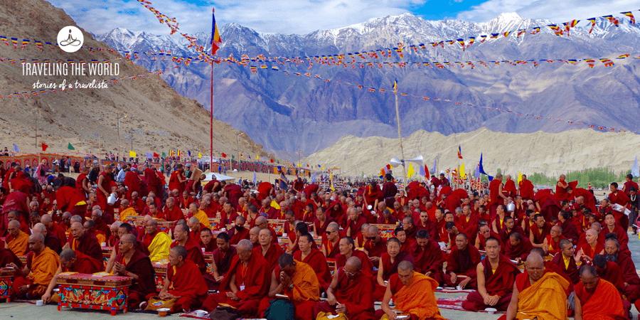 Indien Reiseberichte - Mönche in den Nähe des Kloster Likir