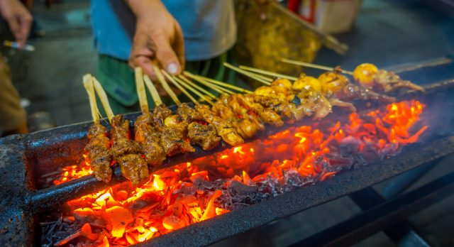 Southeast Asian street food: Indonesian meat barbecue