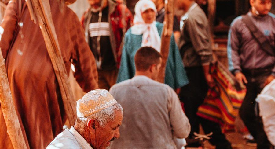 Busy market in Marrakech