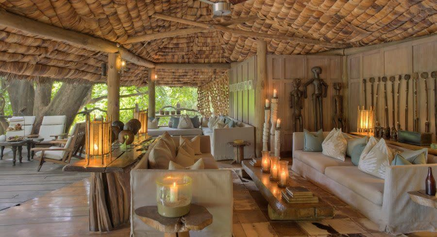 Lobby area at Lake Manyara Tree Lodge in Lake Manyara & Ngorongoro, Tanzania