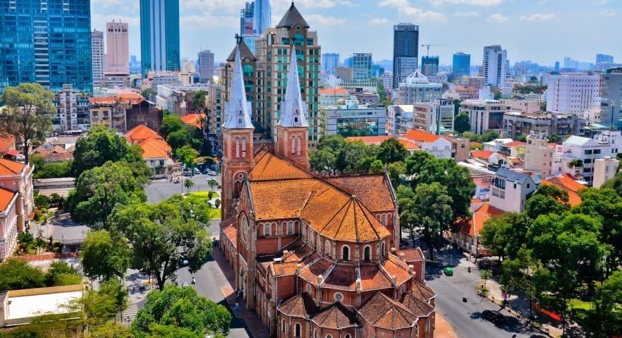 Ho Chi Minh City von oben