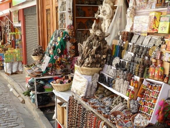 Stand auf dem Hexenmarkt von La Paz