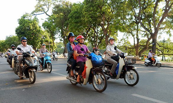 Vespa Tour durch Saigon