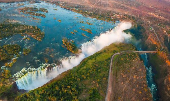 Victoriafälle zwischen Simbabwe und Sambia, Afrika