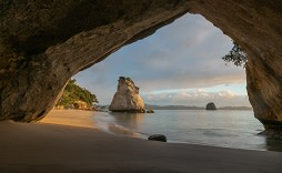 Enchanting Travels New Zealand TCathedral Cove on the Coromandel Peninsula of New Zealand