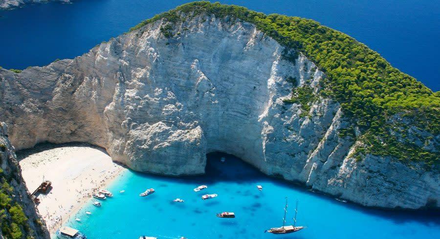 Amazing Navagio Beach in Zakynthos Island, Greece - one f the best things to do in Greece