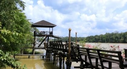 Sukau, Kinabatangan Fluss in Malaysia