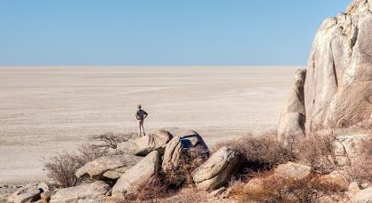 Kalahari Salzpfannen in Botswana