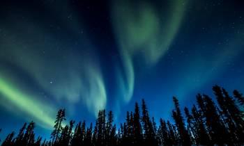 Northern Lights Winter Dempster Highway Cr