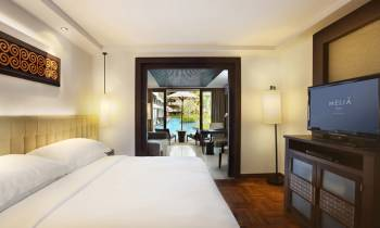 this is a photo of a lagoon access suite at Melia Bali Indonesia