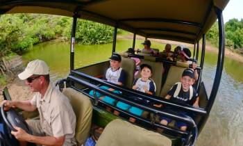 Shamwari Game Reserve kids on safari game drive