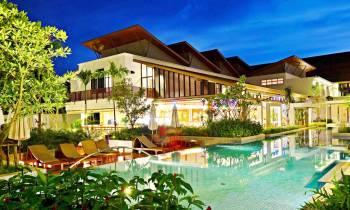 a resort in the garden