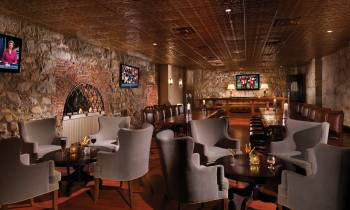 The Cave Bar and lounge area