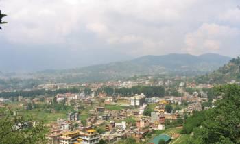 View from Monkey Temple near Kathmandu Nepal
