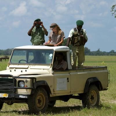 Jeep safari in Zimbabwe