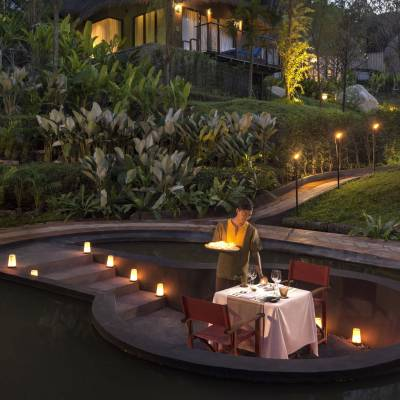 A romantic dinner for two at Keemala in Thailand