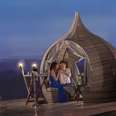 Desert Igloo dining