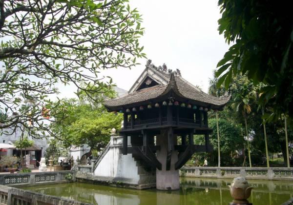 One Pillar Pagoda Buddhist temple in Hanoi