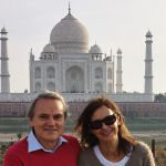 Our guests in front of the Taj Mahal