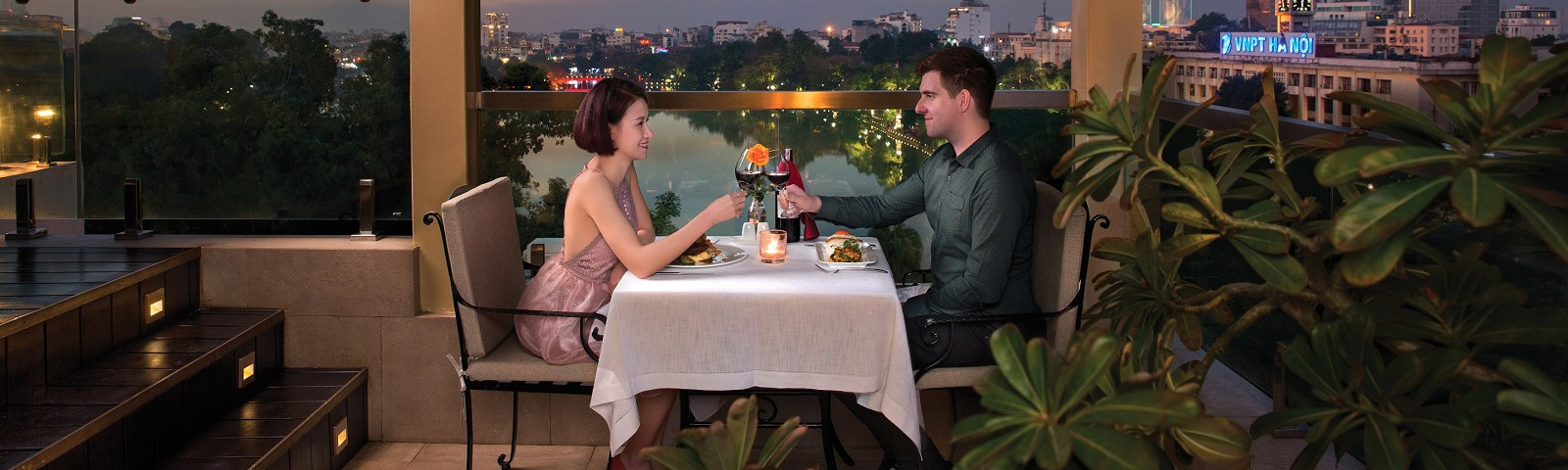 Restaurant at Silk Path Hotel in Hanoi, Vietnam