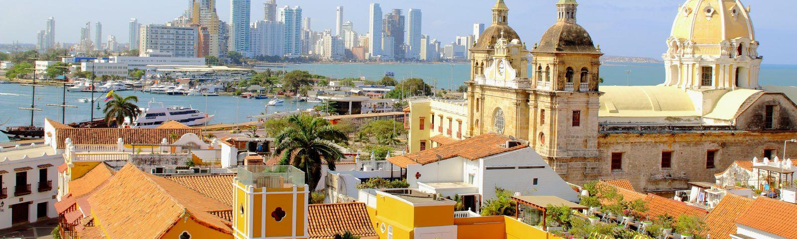 Panorama von Cartagena in Kolumbien