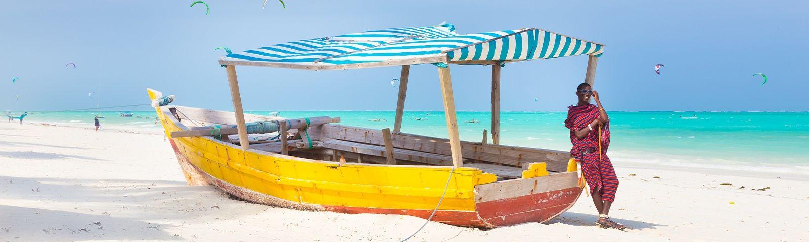 Maasai lounging at the beach - Things to do in Zanzibar